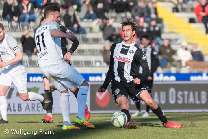 VfR Aalen vs. SV Meppen, Fussball, 3.Liga, GER, 24.02.2018