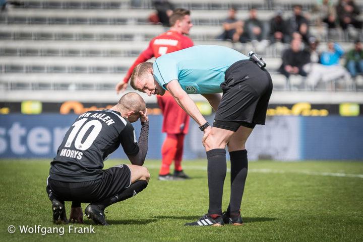 VfR Aalen vs. SC Paderborn 07, Fussball, 3.Liga, GER, 31.03.2018