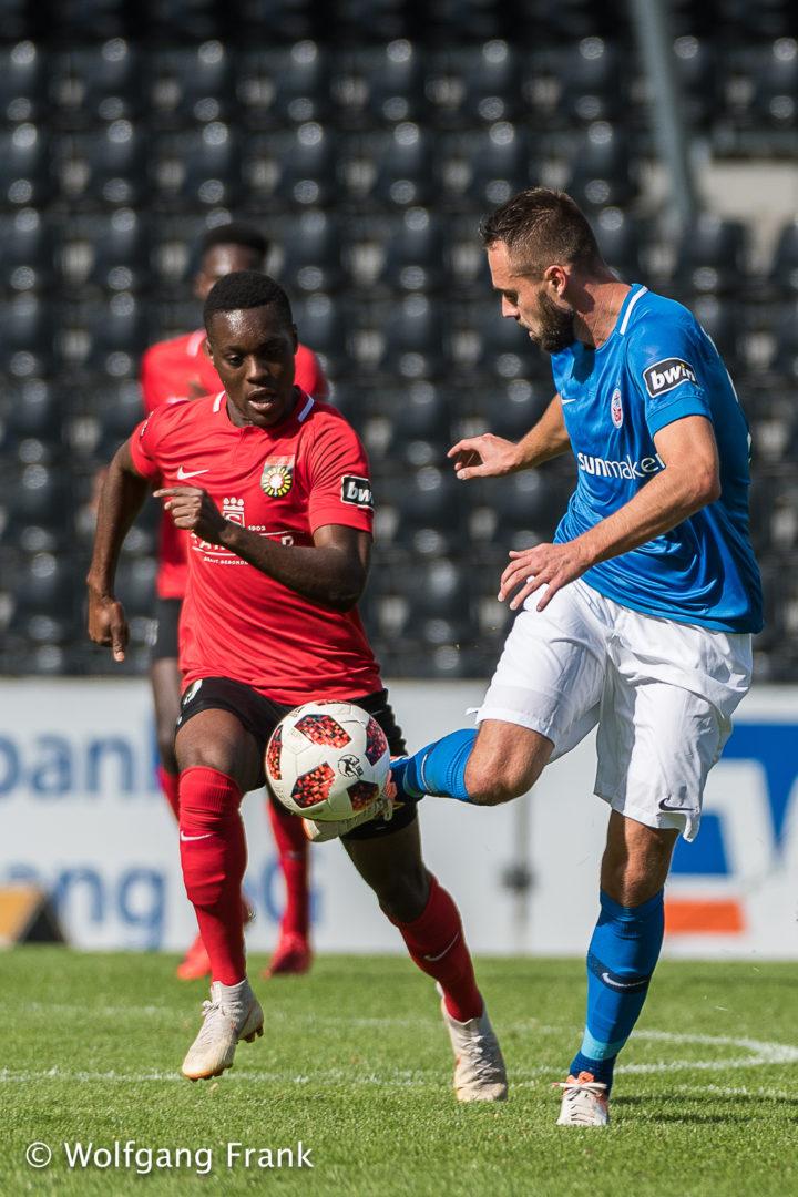 SG Sonnenhof Grossaspach vs. FC Hansa Rostock, Fussball, Herren, 3.Liga, 8.Spieltag, Saison 18/19,  GER, 22.09.2018